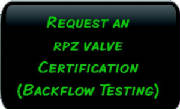 Request an RPZ Valve Certification